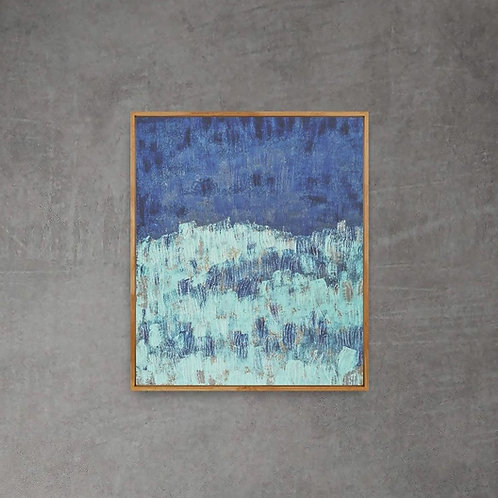 Blue Spring Acrylic Oil Pastils on Board Paper 68 x 100 cm