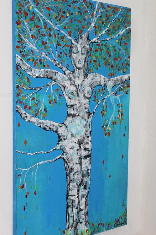 RUSKA (Luonnotar) Acrylic and Oil on canvas 120 x 200 cm