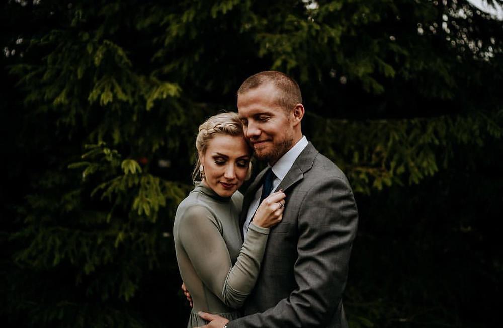Johanna Sorsa puolisonsa Sebastian Sorsan kanssa.
