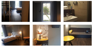 Meininger hotel room in Moleenbek, Brussels, 2017
