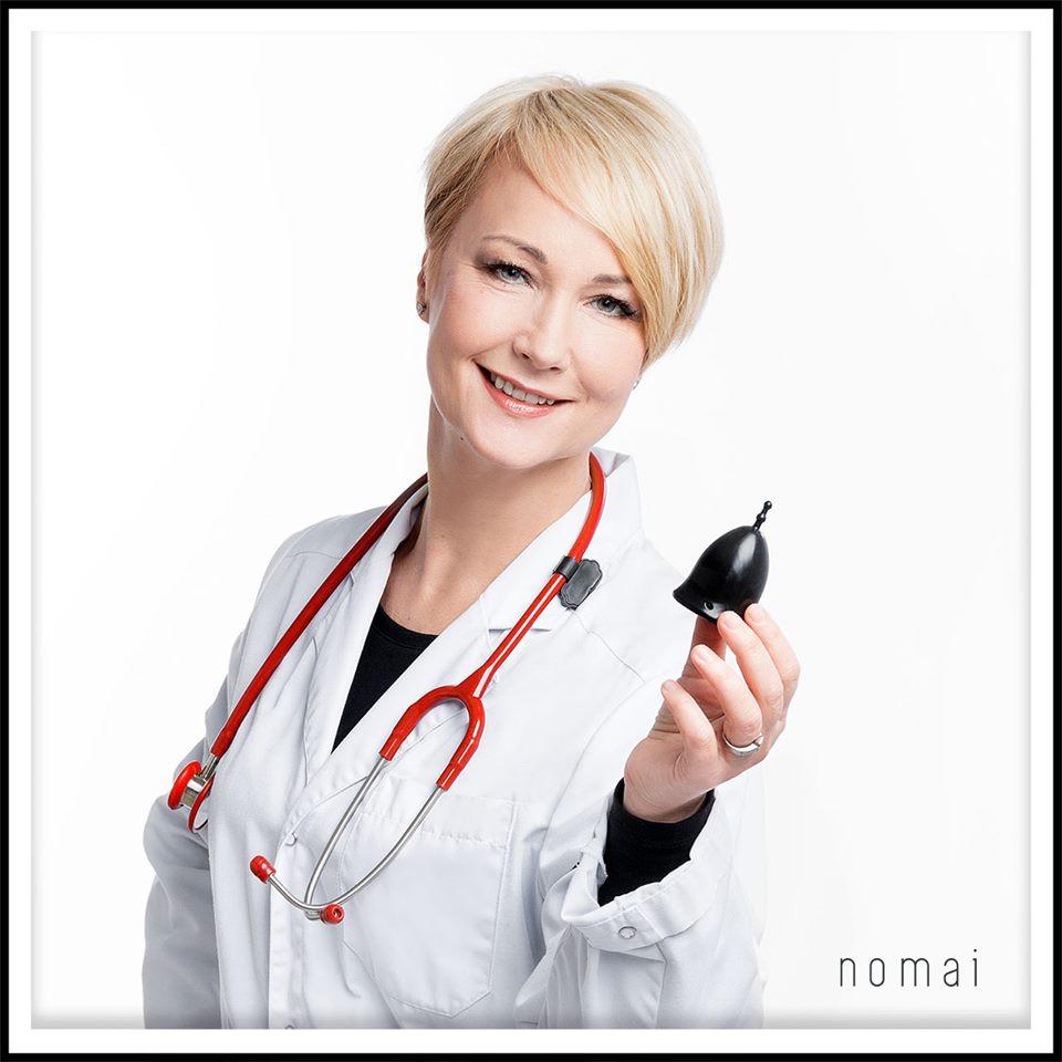 Nomai-kuukupin äiti Nonna Heiskanen on ammatiltaan gynekologi.