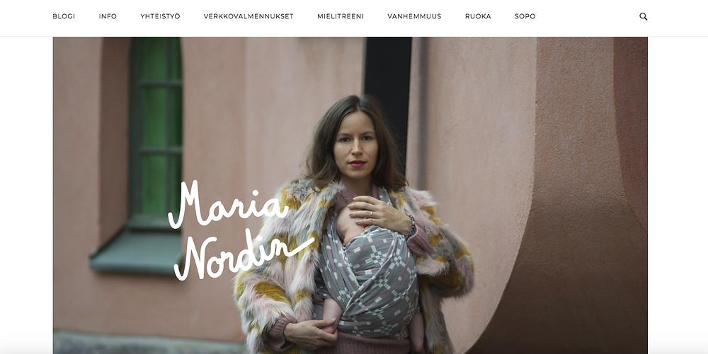 Maria Nordinin uusi blogisivu By: Emmi Pyykkö