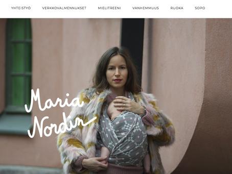 Maria Nordinin blogin siirto Kaksplussalta omalle sivulle ja uuden blogisivun rakentaminen