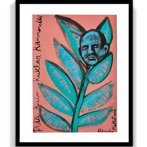 Like A Flower - Pidä kuin kukkaa kämmenellä, Acrylic & Oil, Magic Marker