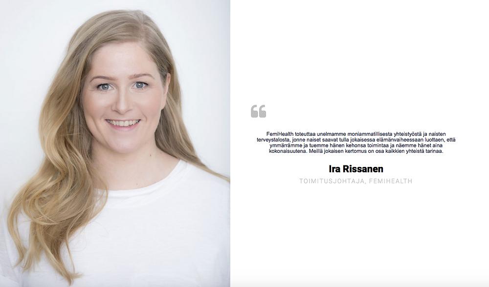 Ira Rissanen, Femi Health