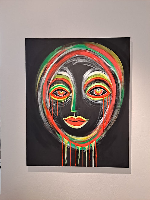 CHILANGA 2.0. 100 x 120 Acrylic, oil & neon color on canvas