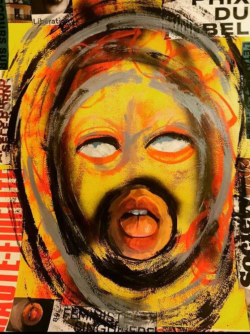 Feel Good - Acrylic, Oil and Spray paint. Mixed Media. A5
