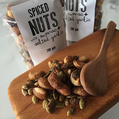 Spiced Nuts with salted garlic and sumac