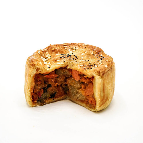 Spicy Roasted Vegetable Pie