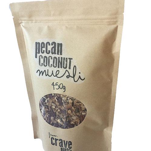 450gm Pecan Coconut Muesli ~ Vegan, Low Sugar & Fruit Free