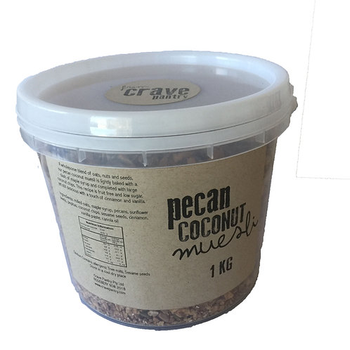 1kg Pecan Coconut Muesli ~ Vegan, Low Sugar & Fruit Free