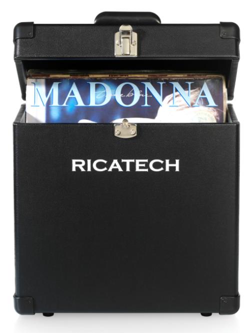 Koffer voor 30 lp's. Ricatech zwart