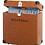 Thumbnail: Koffer voor 30 lp's. Ricatech bruin