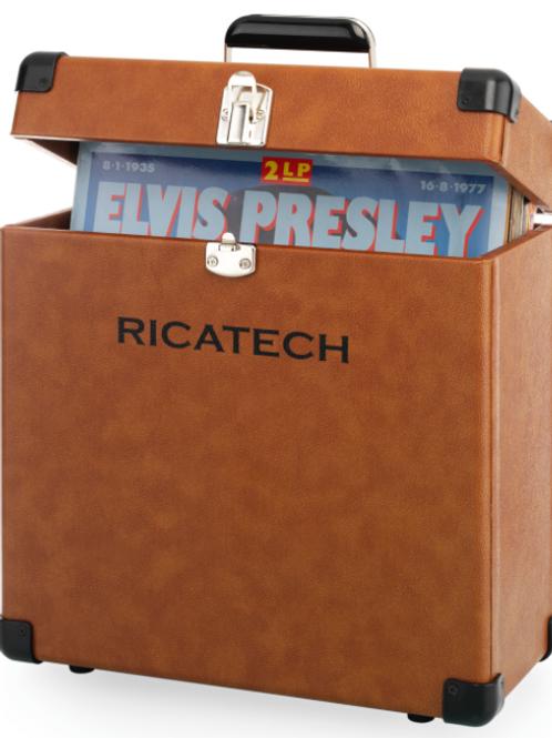 Koffer voor 30 lp's. Ricatech bruin