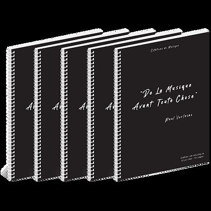 Lot de 5 cahiers de musique