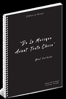 Cahier de musique - Citations - 12 portées - 96 pages