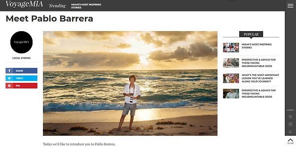 Meet Pablo Barrera - Voyage MIA Magazine