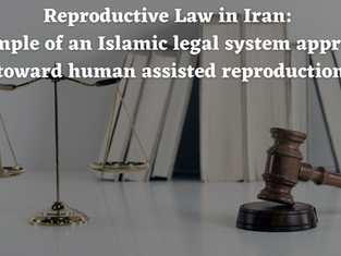 Reproductive Law in Iran: Example of an Islamic legal approach toward human assisted reproduction