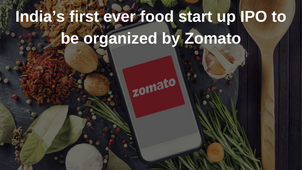 India's first ever food start up IPO to be organized by Zomato