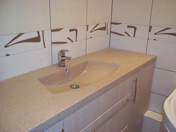 каменная столешница в ванную