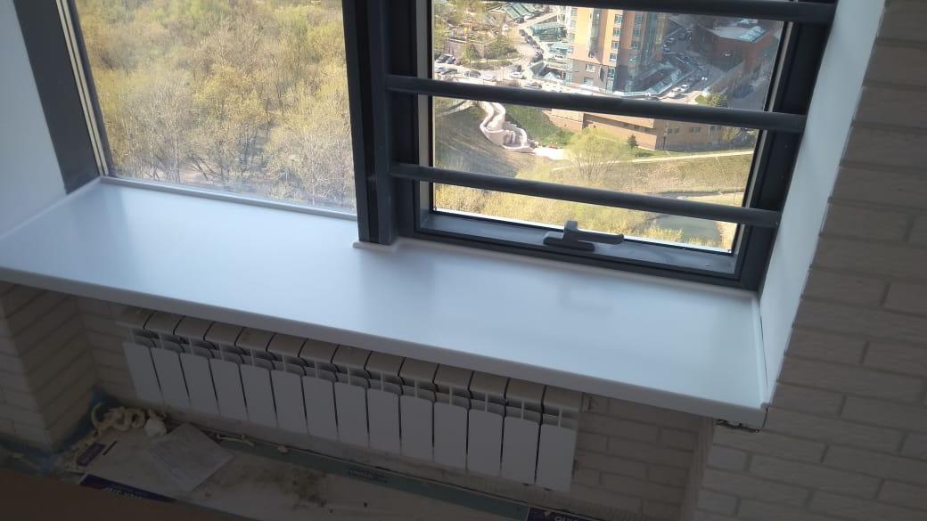 Подоконник на панарамное окно