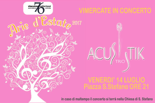 18/07 ore 21 - VIMERCATE IN CONCERT