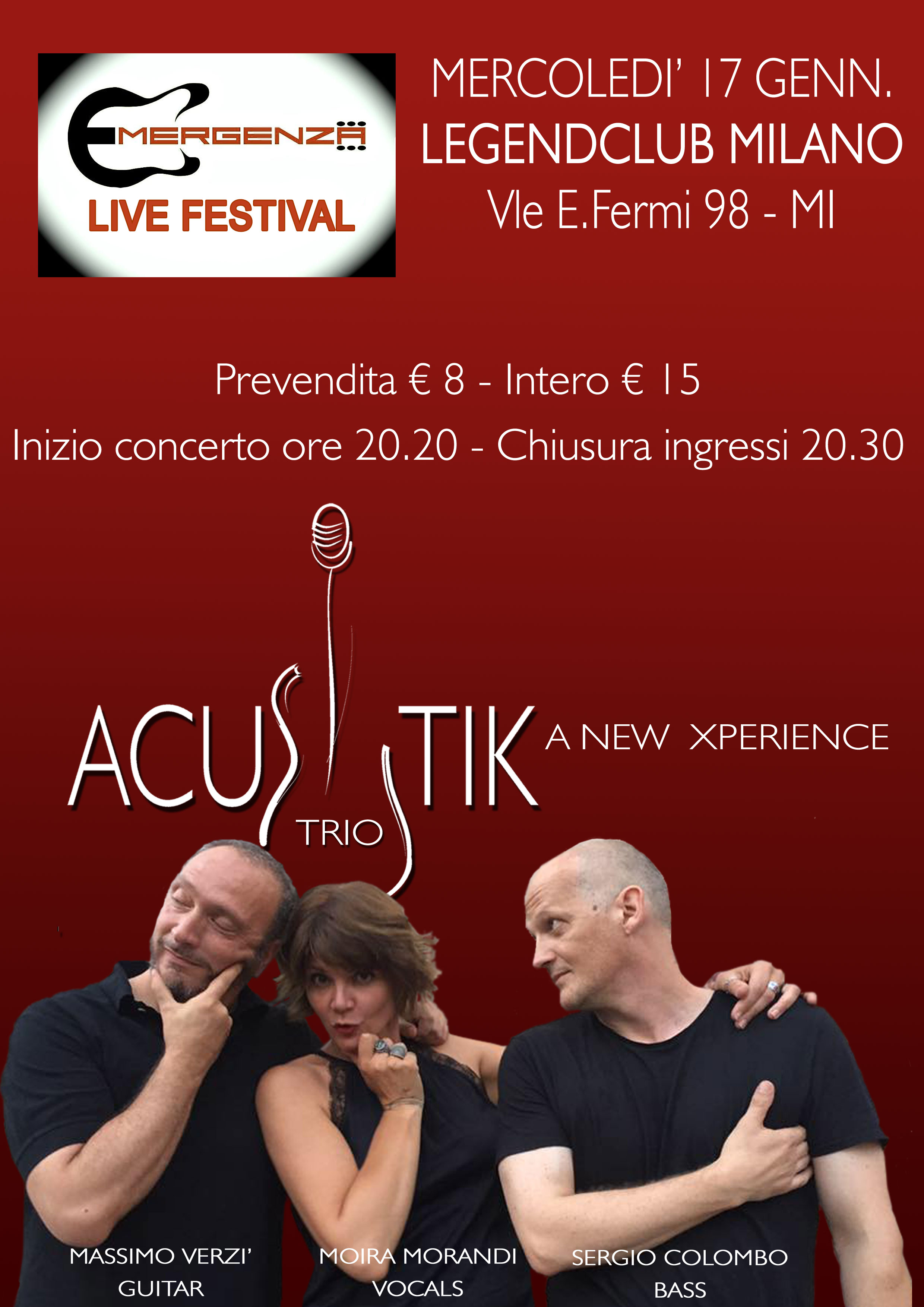Acustik Trio @ Emergenza Festival