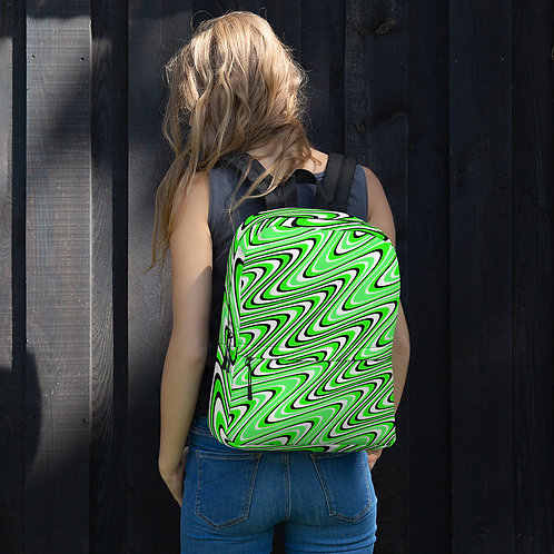 Green Wig Wag Pattern Book Bag