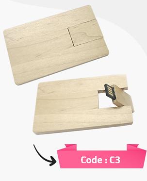 C3 -- Wooden USB Flash Card