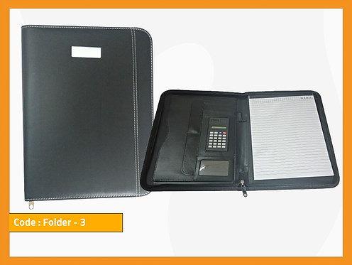 FOLDER 3 -- Leather Folder (With Calculator)