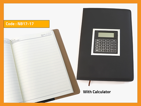 NB-17-17 -- Notebook with Calculator