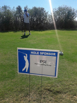 PCA consulting golf sign