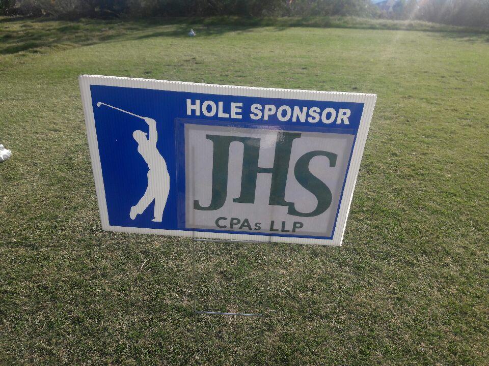 JHS golf sign