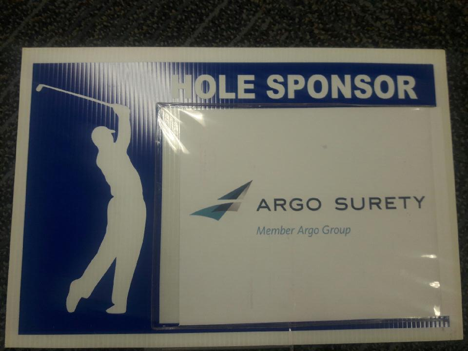 Argo golf sign