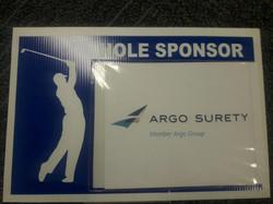 Argo golf sign