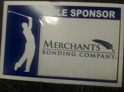 Merchants golf sign