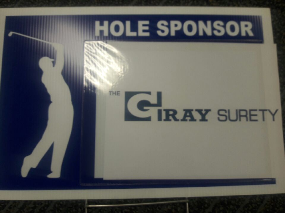 Gray Surety golf sign