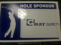 Gray Surety golf sign