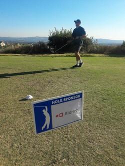 aldrich golf sign