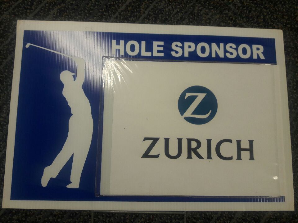 Zurich golf sign