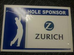 Zurich golf sign