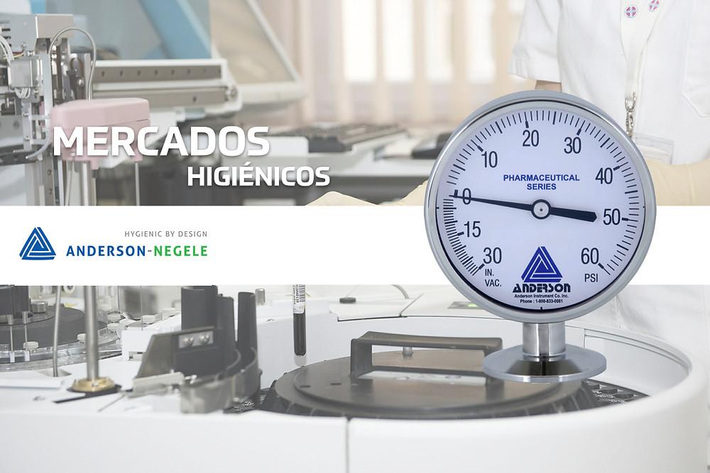 Instrumentación para mercados higiénicos Anderson-Negele