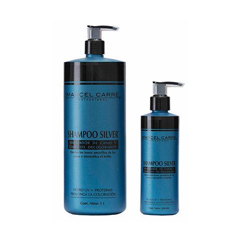 Shampoo Silver matizador de canas y cabello decolorado
