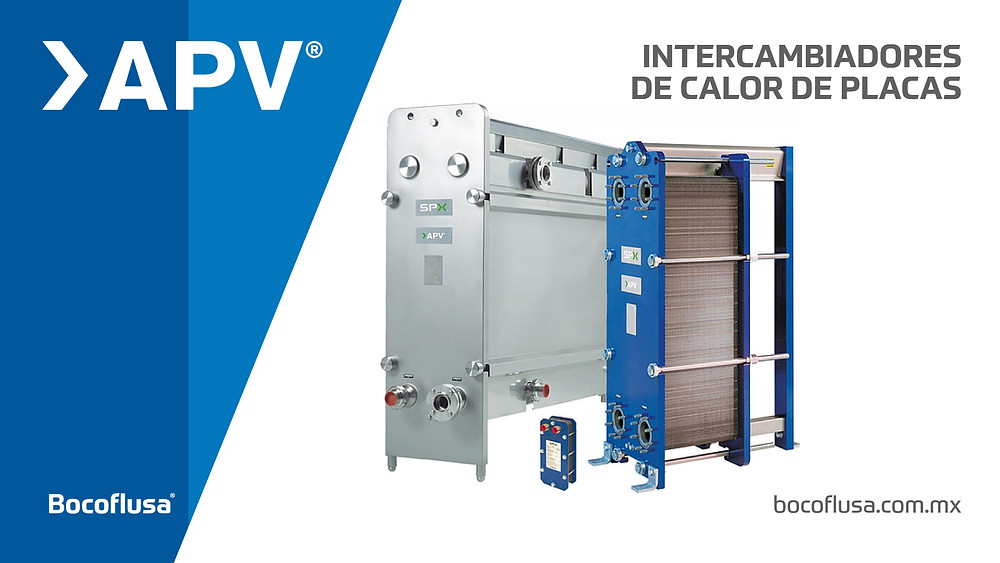 Intercambiadores de calor de placas. APV