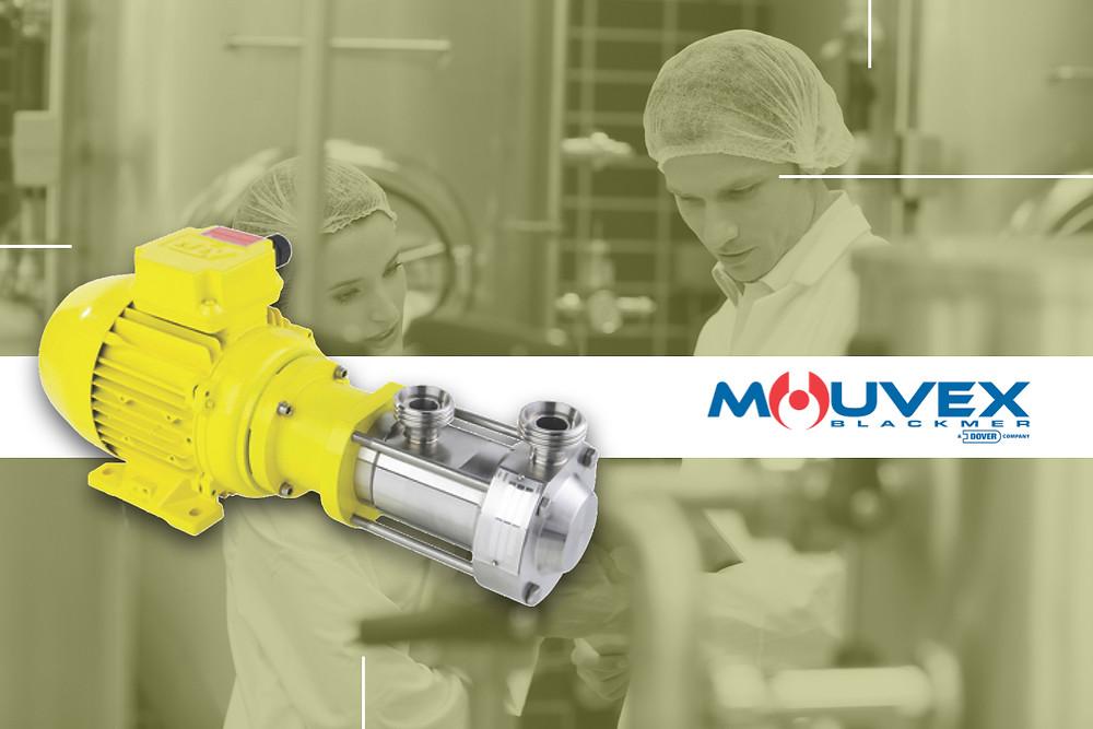 Bomba Sanitaria de Disco Excéntrico Serie Micro C de Mouvex