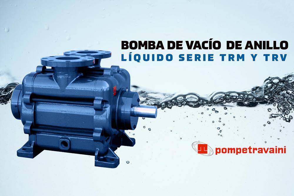 Bomba de vacío de anillo líquido Pompetravaini
