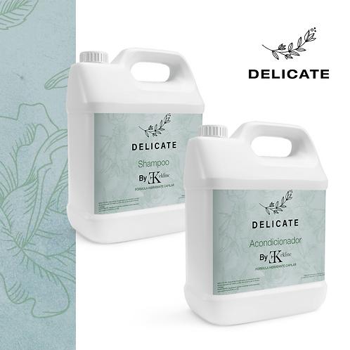 Kit Shampoo y Acondicionador Delicate para salón (2 Galones de 4 litros c/u)