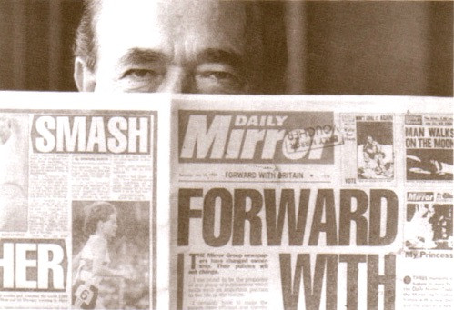 Robert reading the Daily Mirror