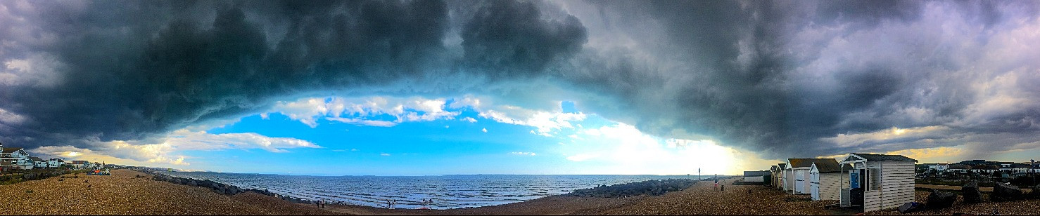 stormcloud over shoreham beach