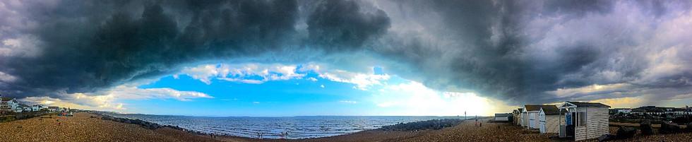 stormcloud over shoreham beach